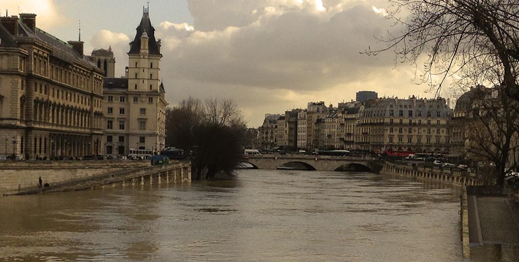 la crue de la seine à Paris en 2018