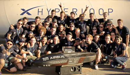 Le record de vitesse de l'Hyperloop établi par WARR Hyperloop
