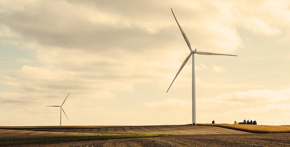 Les éoliennes font partie des sources d'énergies renouvelables