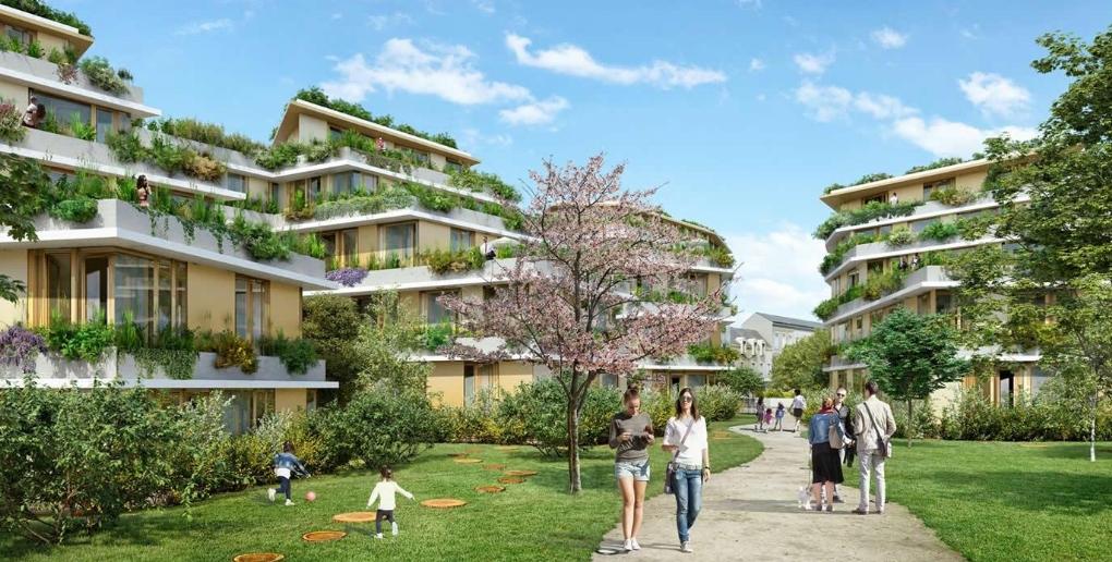 vur du projet d'aménagement du quartier de la maison d'arrêt de Nantes par l'entreprise topager