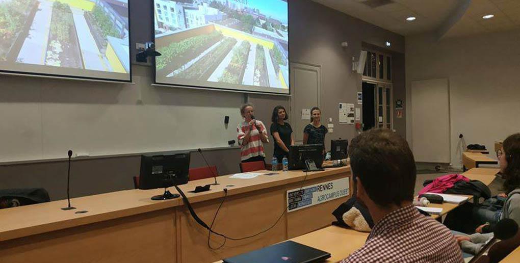 L'équipe d'AgroVeloCity en conférence à Rennes.