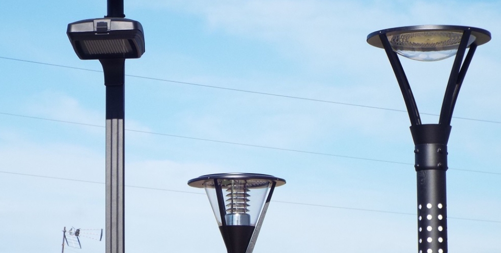 exemples de lampadaires développés par Lumi'IN