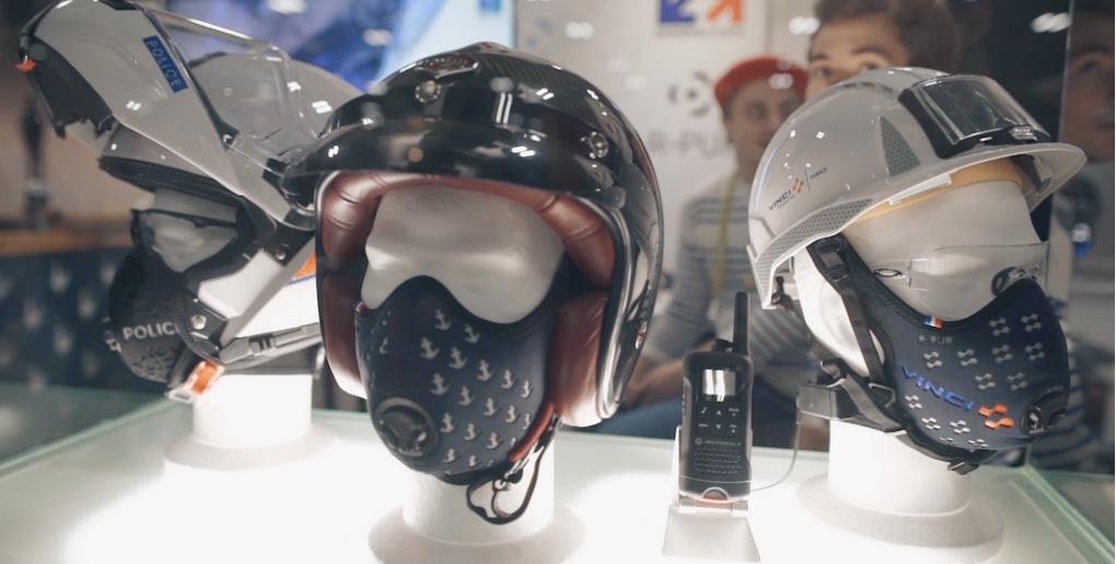 le masque antipollution de R-PUR convient aussi aux professionnels du bâtiment