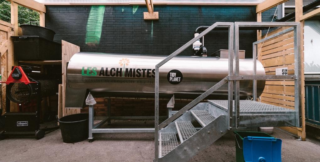 la solution de compostage de la start-up Les Alchimistes