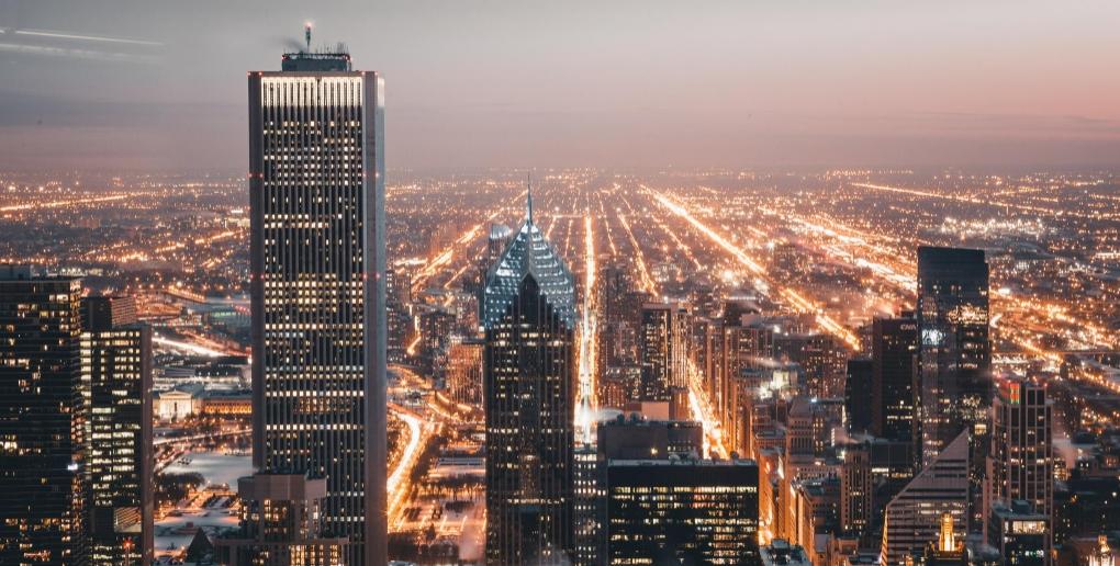 une ville éclairée
