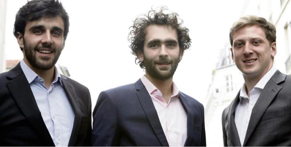 Les 3 fondateurs de la start-up Califrais