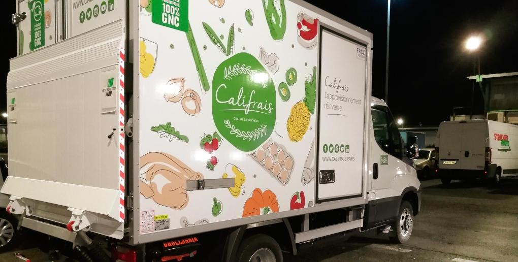 Camion de livraison de la start-up Califrais