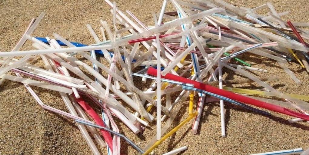 déchets pailles plage