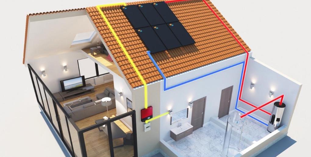 schema fonctionnement panneaux solaires DualSun