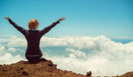 femme montagne
