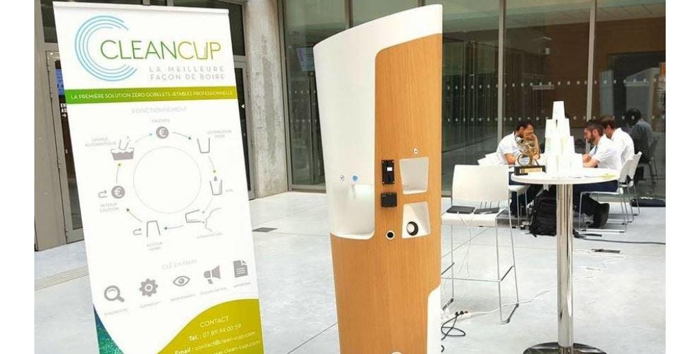 CleanCup la machine contre les gobelets en plastique