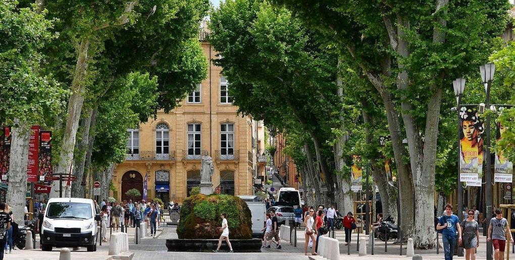 arbres place aix-en-provence