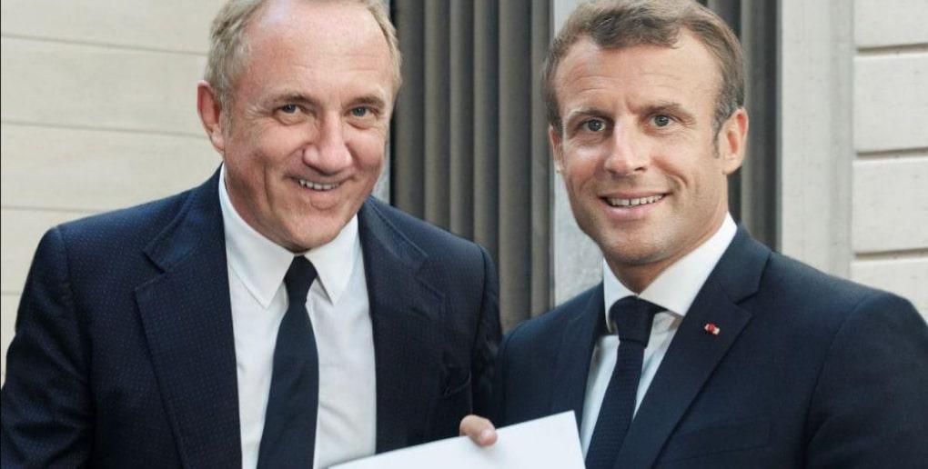François-Henri Pinault et Emmanuel Macron