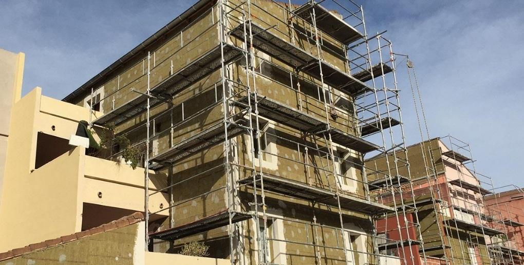 bâtiment en rénovation énergétique