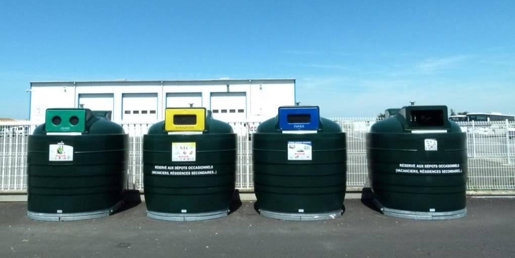 containers poubelles tri