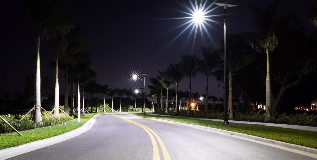 routes éclairées