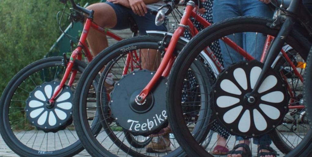 la roue électrique de Teebike