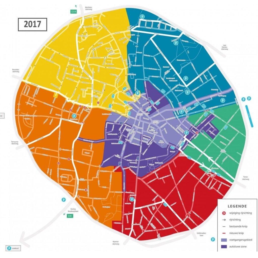 plan de circulation Louvain