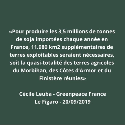 chiffre production soja France