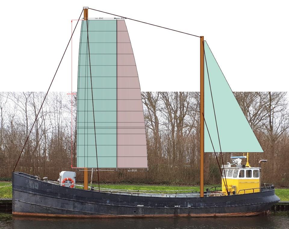 cabotage bateau esquisse