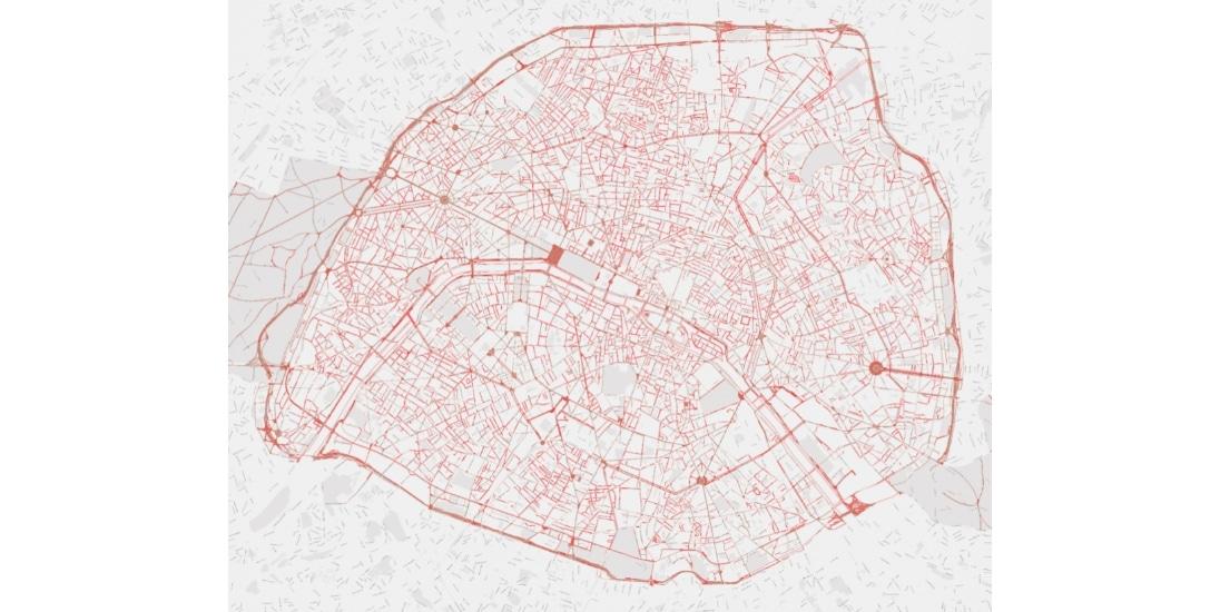 carte des trottoirs à Paris