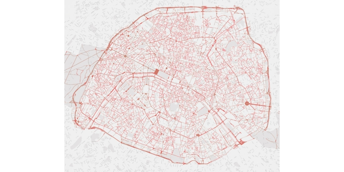 carte des trottoirs à Paris