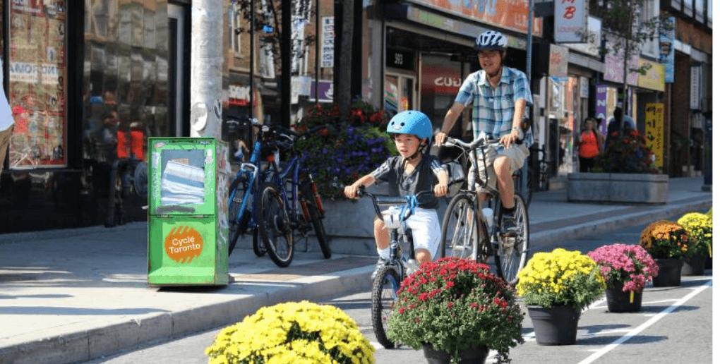 Exemple urbanisme tactique et mobilité durable Canada