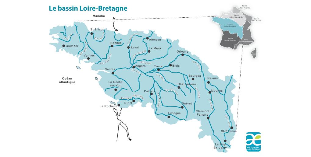 carte du bassin Loire-Bretagne