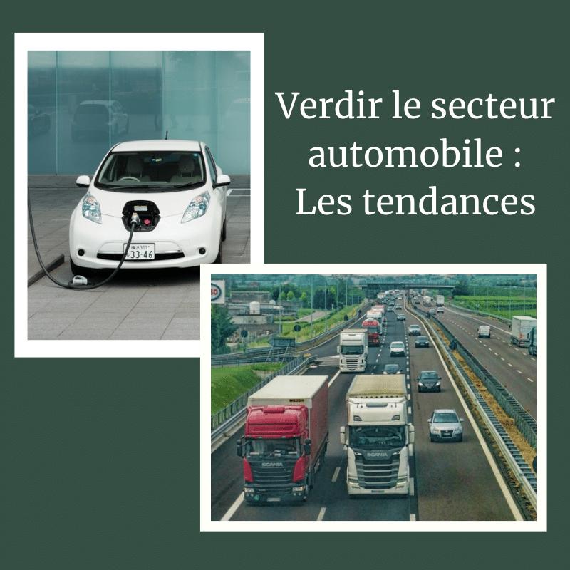 tendances secteur automobile