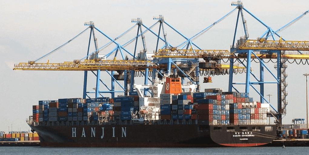 porte conteneur transport maritime