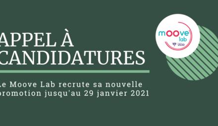Appel à candidatures Moove Lab