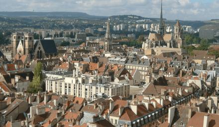 vue panoramique de la ville de Dijon