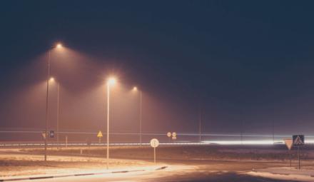 éclairage urbain la nuit