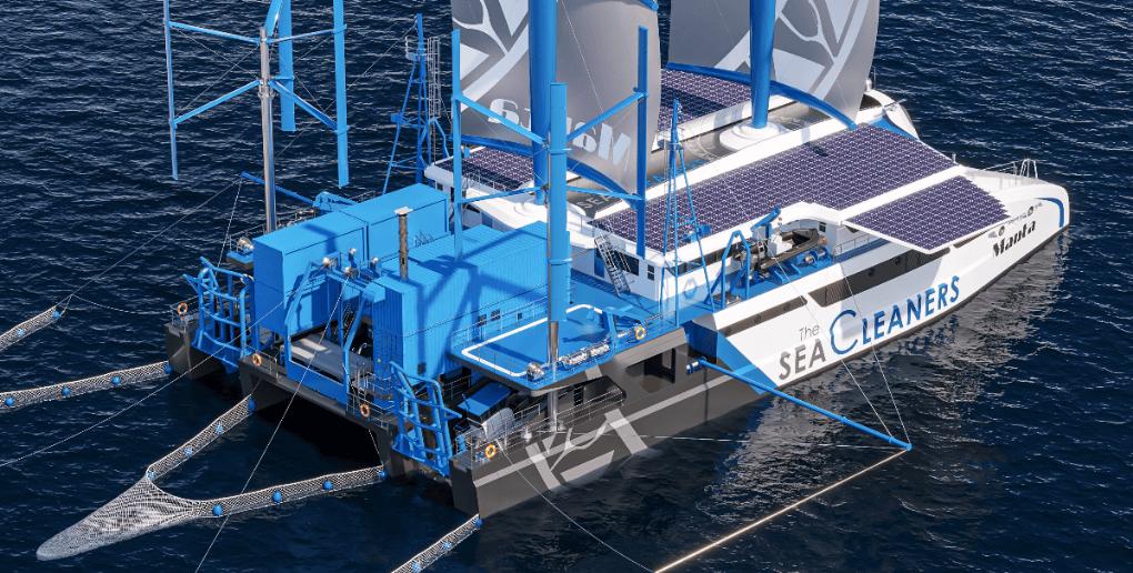 le Manta, le bateau de l'association The SeaCleaners