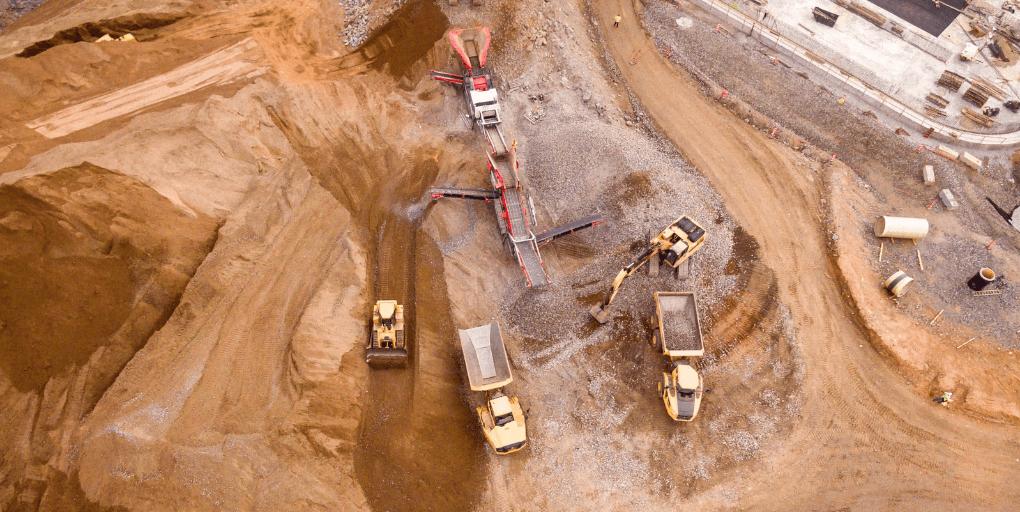 extraction de sable