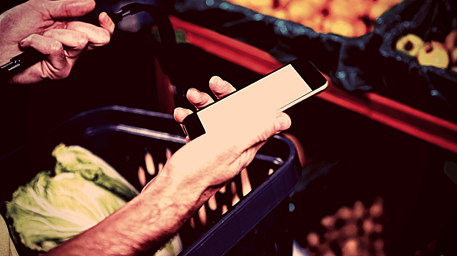 smartphone achat alimentaire