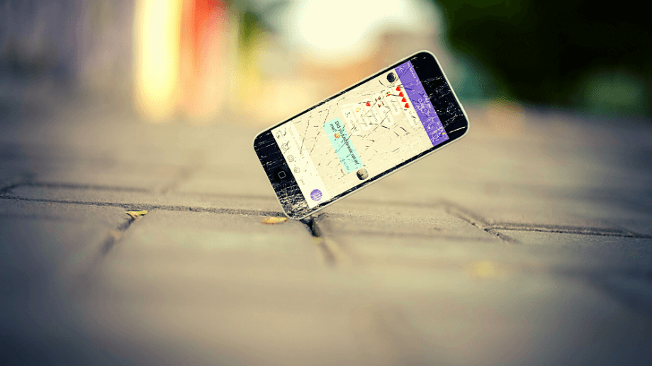 smartphone cassé