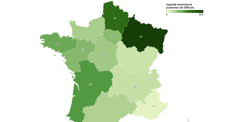map installations biométhane France