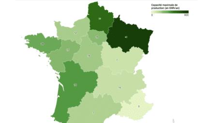 map installations biométhane France