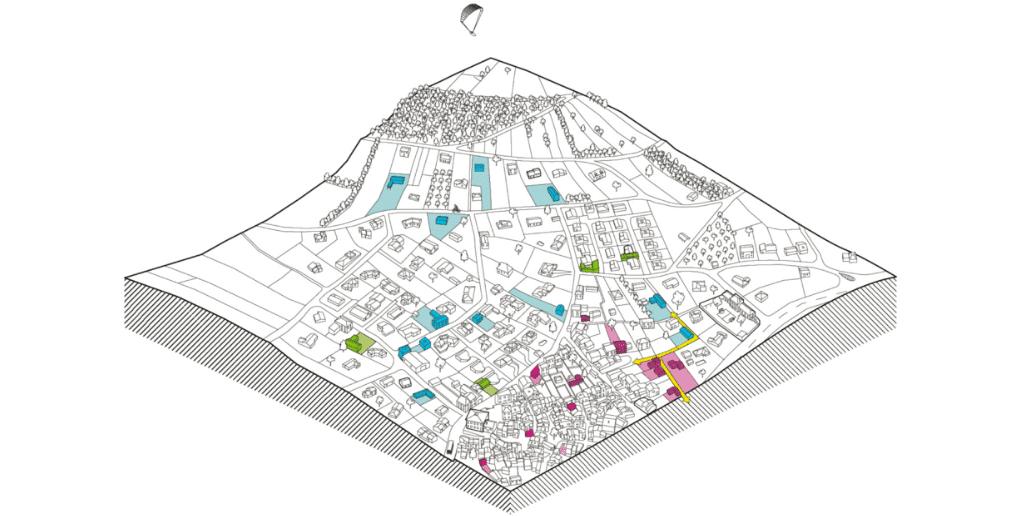 schéma étalement urbain