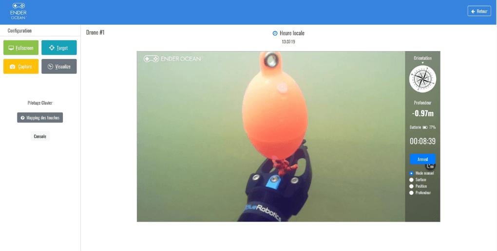 Collecte des déchets par Ender Ocean